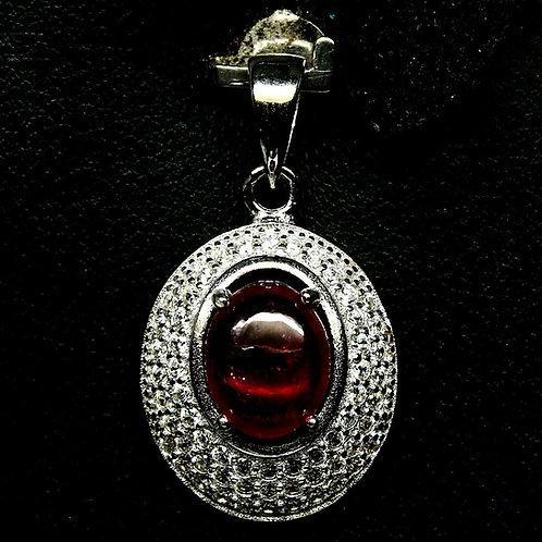 Подвеска серебро 925 ручной работы с рубином натуральным арт.103047