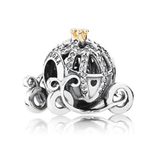 "Шарм ""Карета Золушки"" Disney PANDORA серебро 925 (оригинал)"