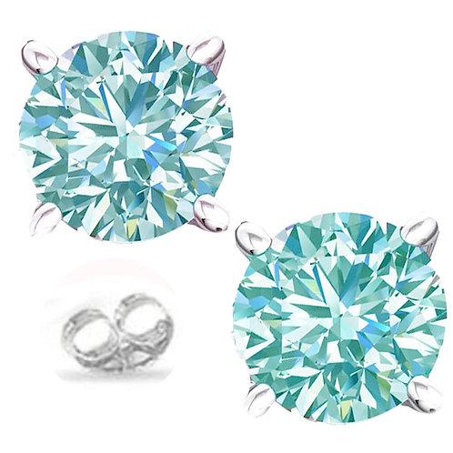 Серьги серебро 925 с муассанитом голубой лед 1.66 К арт.100426-42