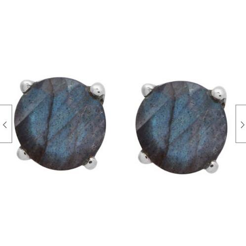 Серьги серебро 925 с лабрадоритом натур. арт 102723-25