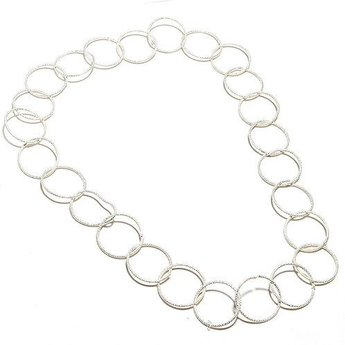 Ожерелье серебро 925 ручной работы этническое (длина 45 см)