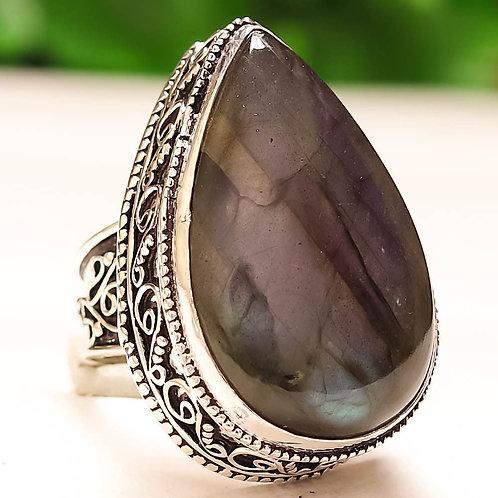Кольцо серебро 925 с лабрадоритом нат. арт.00611-51