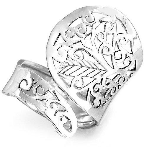 Кольцо филигрань серебро 925 ручной работы (р.17.3)