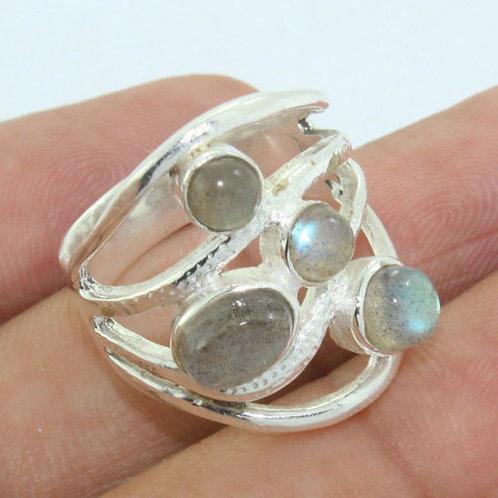 Кольцо серебро 925  с лабрадоритом нат.арт.000895-51