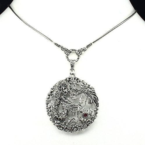 Ожерелье серебро 925 ручной работы с марказитом натуральным