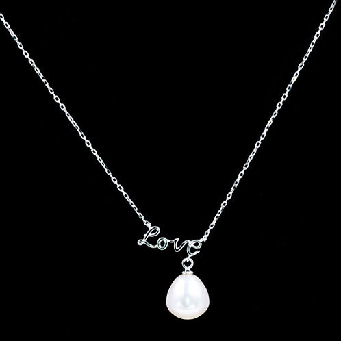 Подвеска  с цепочкой серебро 925 жемчуг натур»