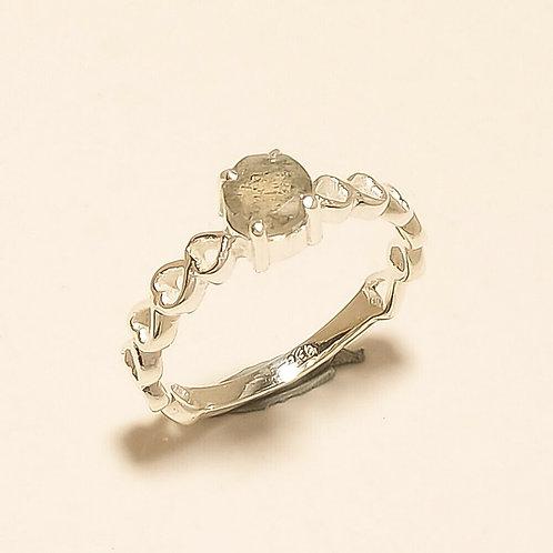 Кольцо серебро 925 ручной работы с лабрадоритом натур. арт. 102161-25
