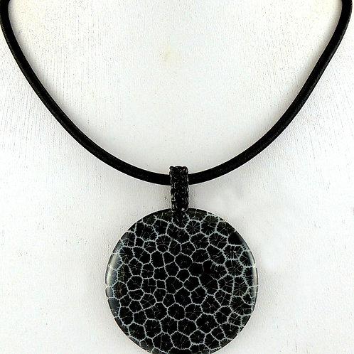 Ожерелье ручной работы с черным кораллом натуральным арт.102532