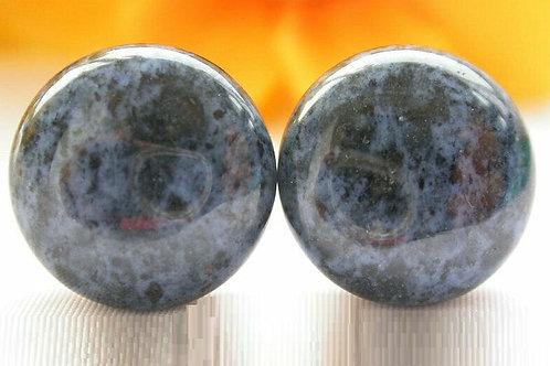 Серьги позолота ручной работы с лазуритом натуральным арт.102693