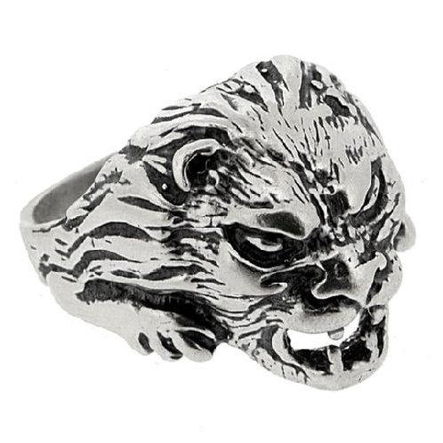 "Кольцо серебро 925 ""Тигр"" (р.20.)"