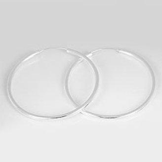 Серьги-кольца серебро 925 ручной работы (диаметр 60 мм)