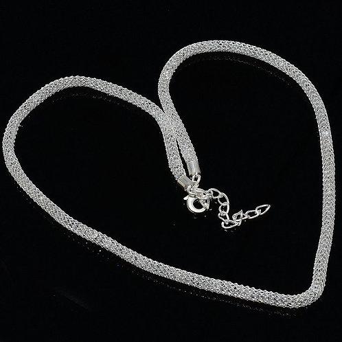 Цепь веревочная серебро 925 змейка (длина 50 см)