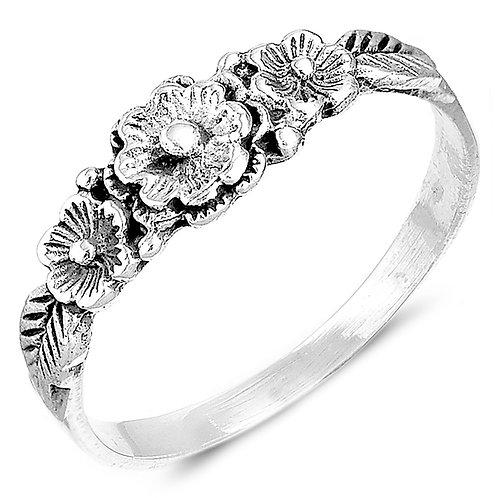Кольцо серебро 925 ручной работы (р.17.3)