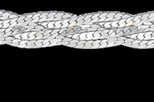 Цепочка париджина косичка из пяти цепочек с алмазной гранью серебро 925