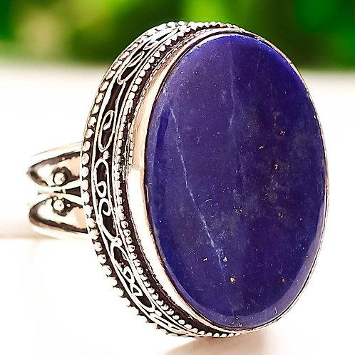 Кольцо серебро 925 ручной работы с лазуритом натур. арт.00638-49