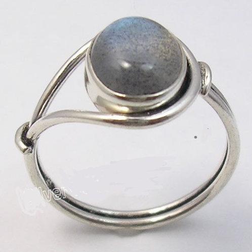 Кольцо серебро 925 с лабрадоритом нат. арт.00582-51