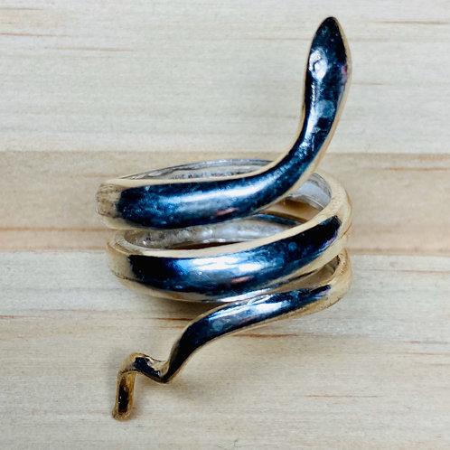 Кольцо серебро 925 Змея (р.17.3) арт.102259-55