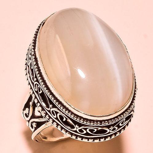 Кольцо серебро 925 ручной работы с агатом натур.арт.00574-16