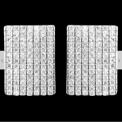 Серьги серебряные с фианитом арт.102669