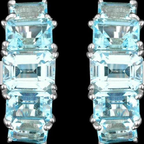 Серьги серебряные с топазом натуральным арт.102656