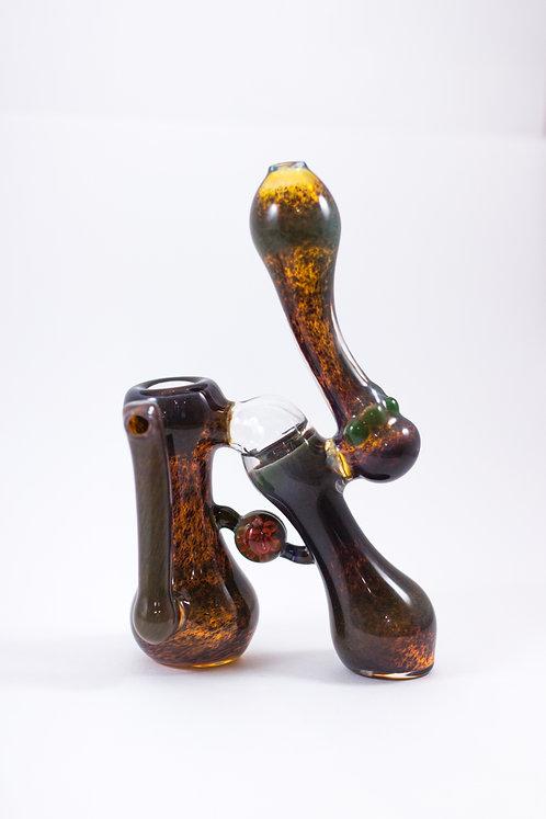 SUBG Natural Double Perc Bubbler W/ Marble