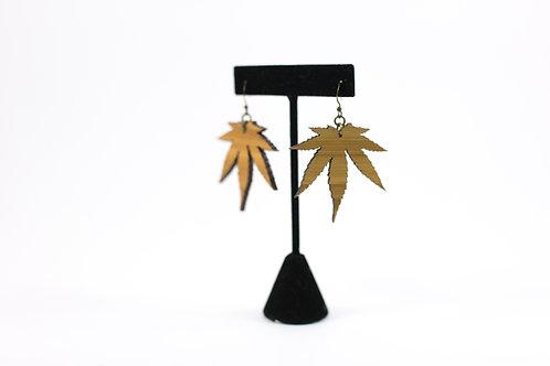 VINTAGE A GOGO-Bamboo Cannabis Earrings