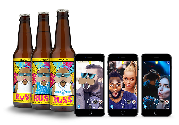 Unlock snapchat filters on packaging using thermochromic inks