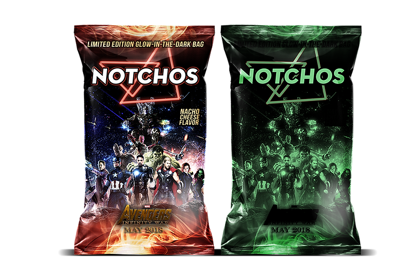 Glow-in-the-Dark Avengers Chip bag