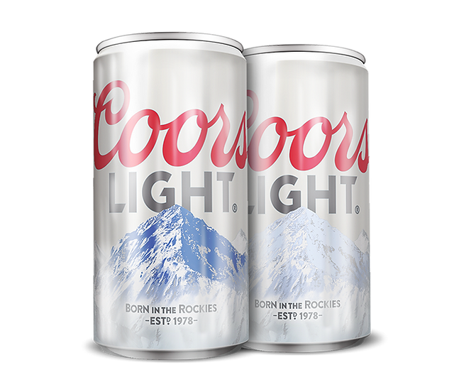 Coors Light Thermochromic can