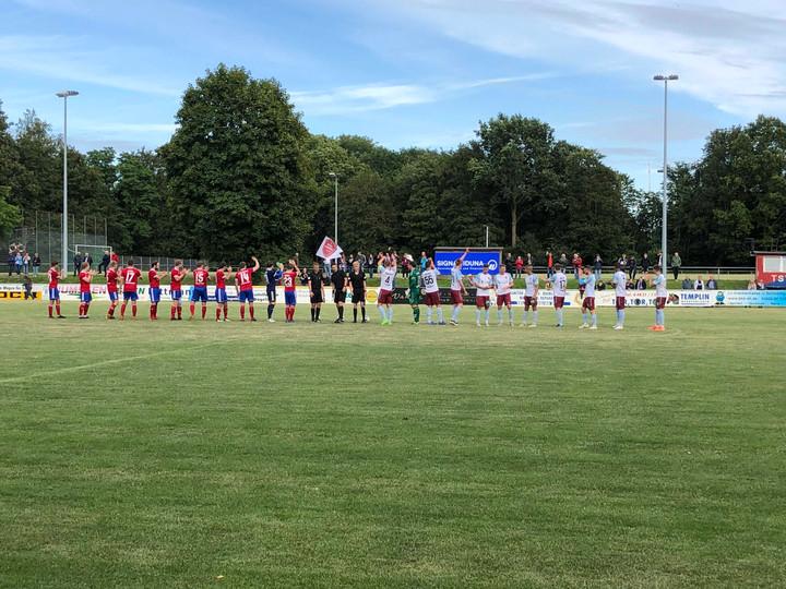 SHFV-Lotto-Landespokal, Achtelfinale:  TSV Lägerdorf – SC Weiche Flensburg 08 0:2 (0:2) Ungefährdete