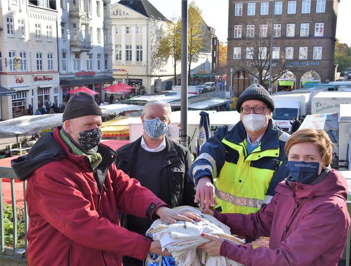 Flensburger Marktbetreiber setzen auf Stoffbeutel!