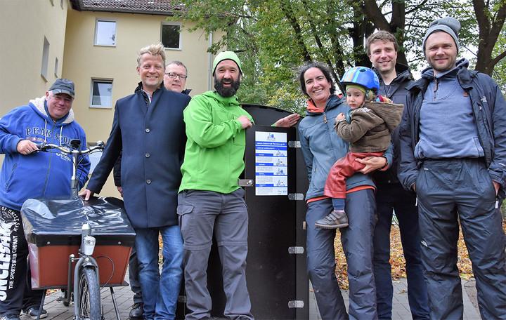 Eröffnung der E-Lastenradstation im Stadtteil Rude