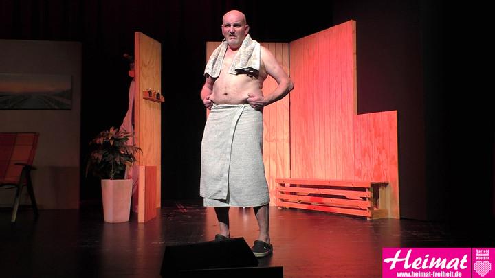 Jörg Hansen spielt das Erfolgsstück, Alleen in de Sauna