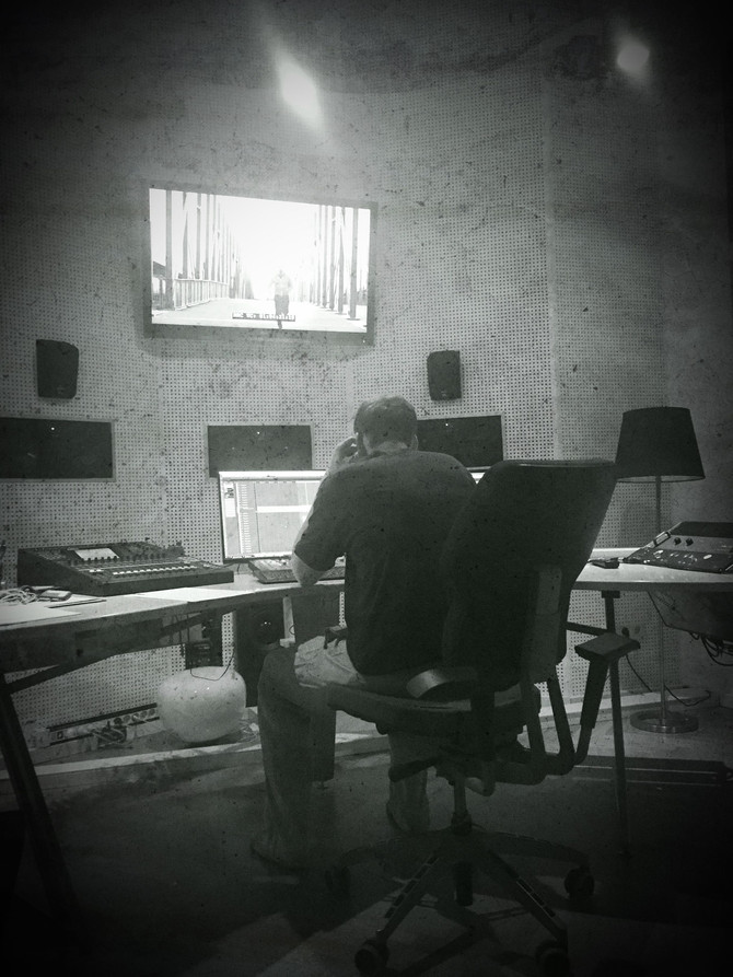 Recording sessions at Blautöne Studio