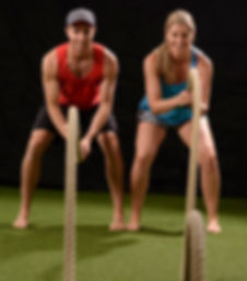 battlerope, rope, fitness, personal trainer, grass, barefoot training
