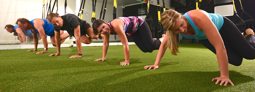 TRX, Core, fitness, small group classes, suspension training, grass, personal training