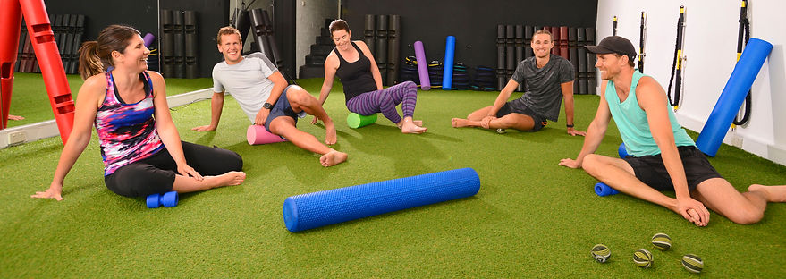grass, foam roller, SMR, fascia, trigger point ball, vipr, small group class, group fitness, RIP trainer