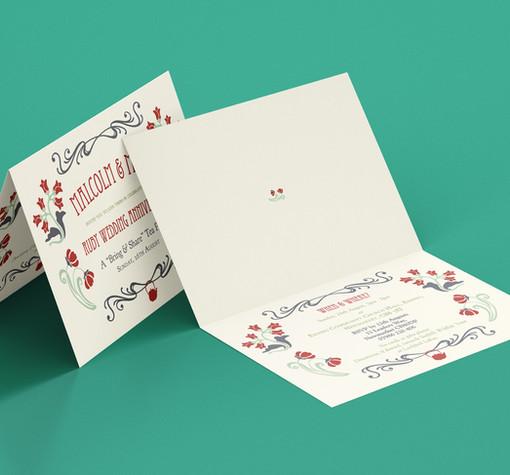 Ruby Wedding Invitation