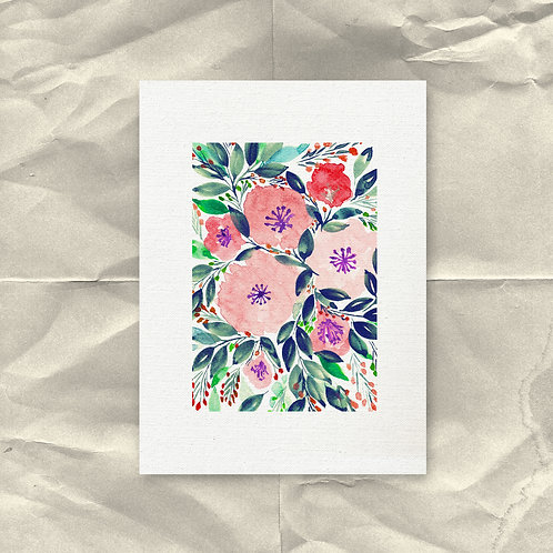 Digital Printable Downloadable Hand painted flower