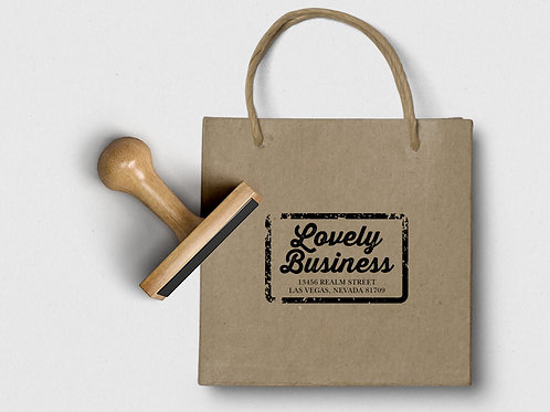 Personalized Traditional Wood Handle Rubber Stamp - Customize Made Stamp