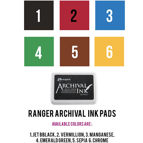 Ranger Archival Ink Pads 4 ¼ x 6 ¼