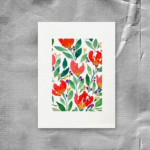 Digital Printable Downloadable Hand painted flower