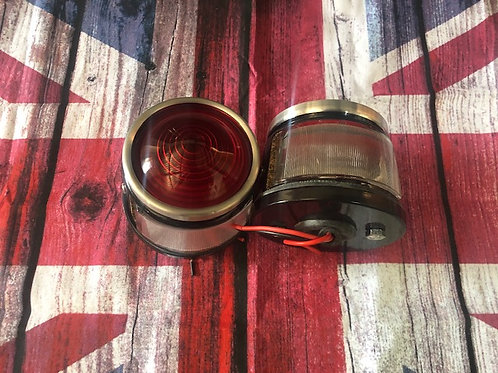 Pork pie rear tail lamp Later Land Rover series 1