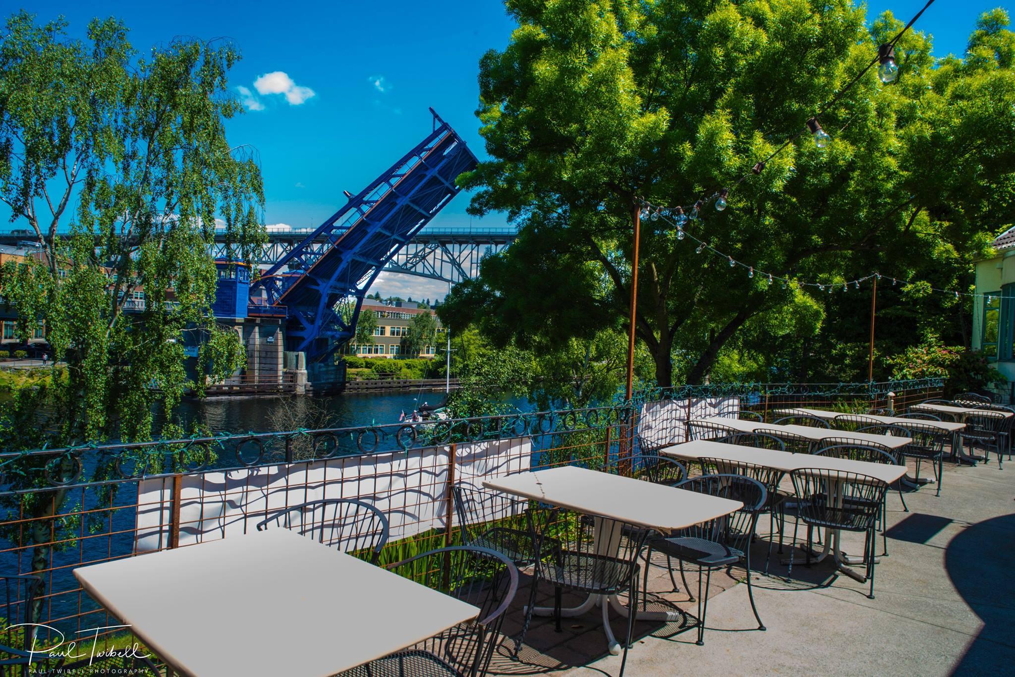 The view of Fremont Bridge