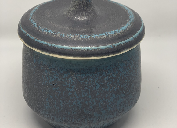 turquoise-ocean lidded jar