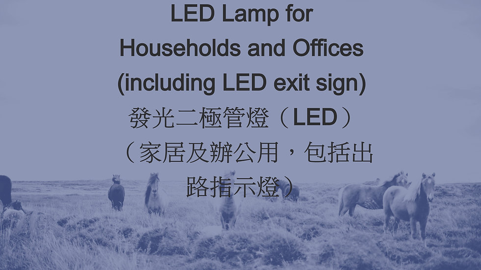 LED Lamp for Households and Offices (including LED exit sign) 發光二極管燈(LED)(家居及辦公用