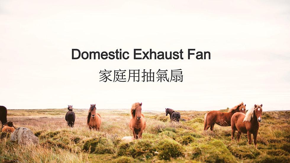 Domestic Exhaust Fan 家庭用抽氣扇
