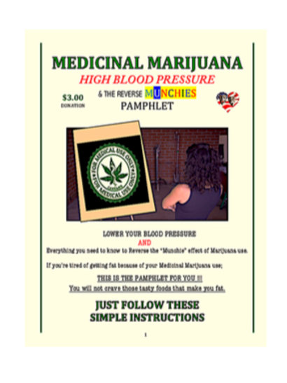 Medicinal Marijuana PAMPHLET / Reverse Munchies