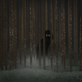Haunted - drawn in Procreate