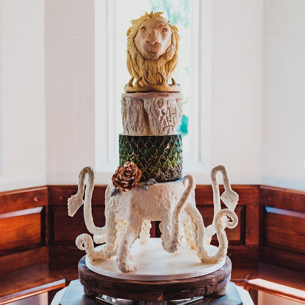 Game of Thrones Wedding Cake (c) Aaron Jeffels Photography